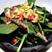 ホウレン草とベーコンのサラダ<br>Spinach Bacon Salad